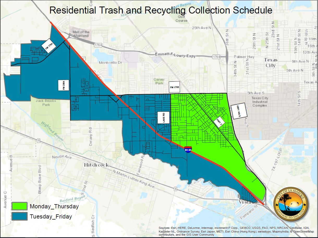 Residential Trash and Recycling Collection Schedule