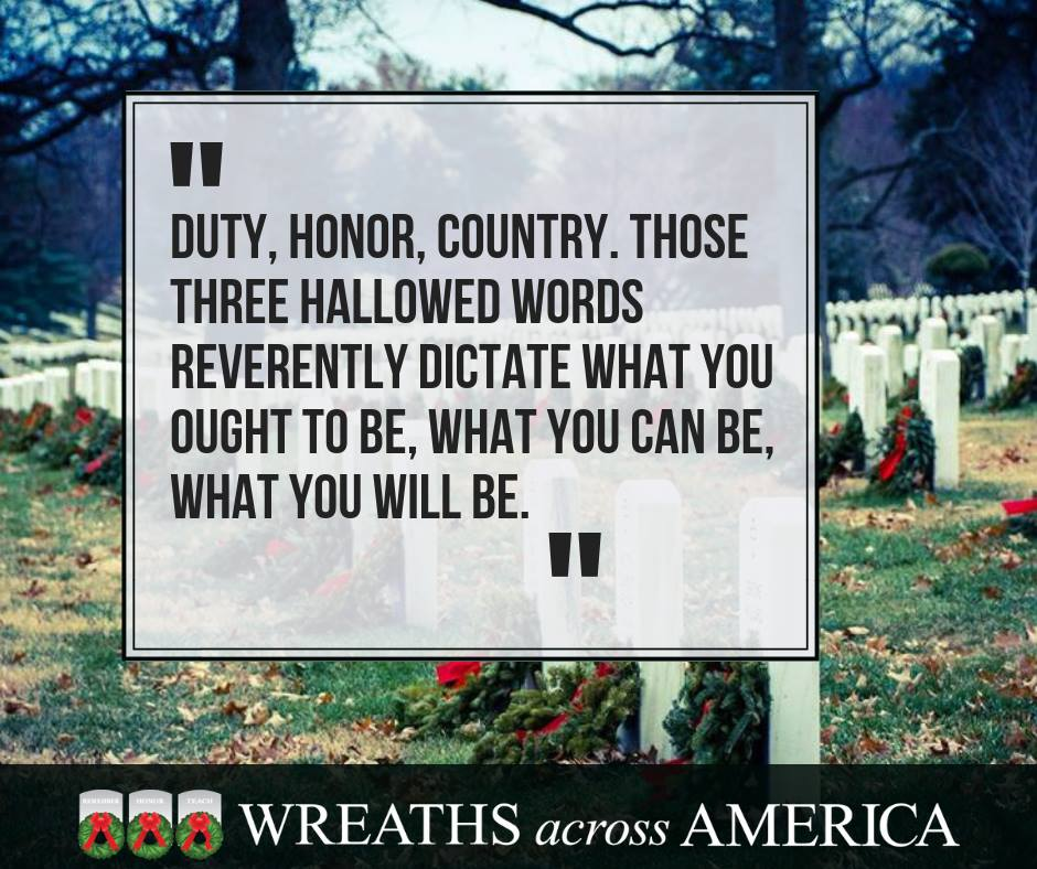 Wreaths Across America quote graphic