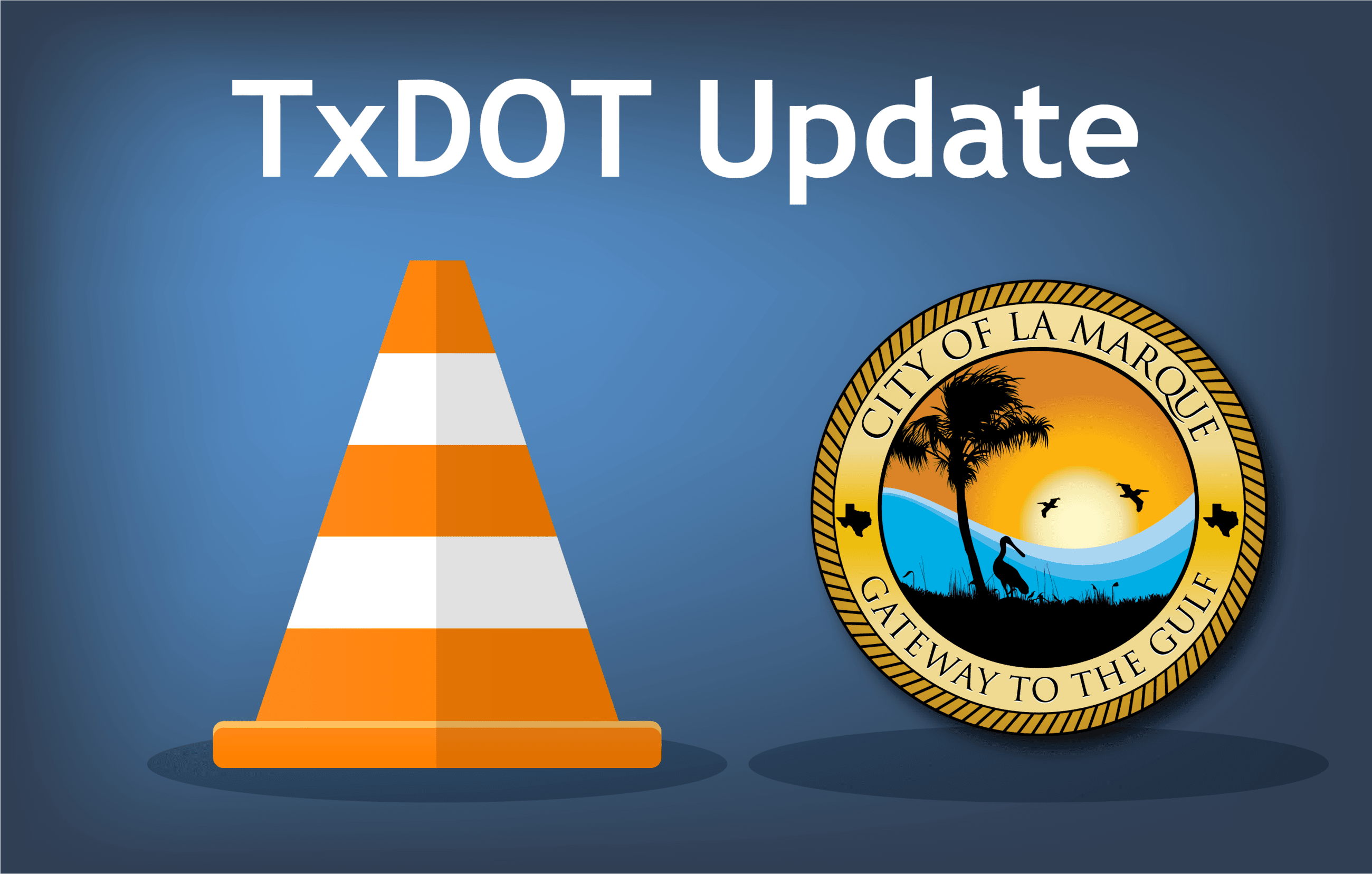 TxDOT Update_ traffic cone with city logo