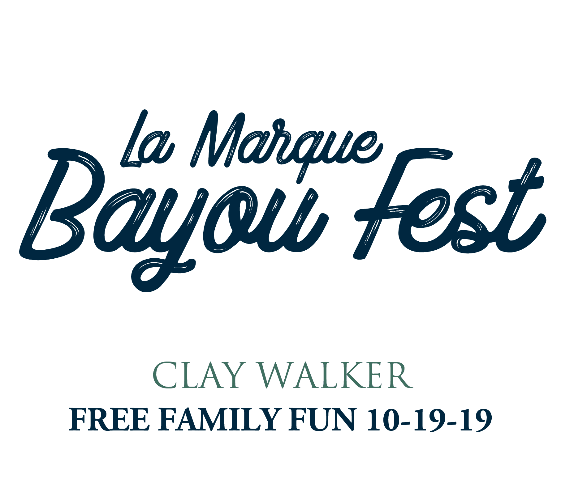 2019 Bayou Fest Clay Walker announcement
