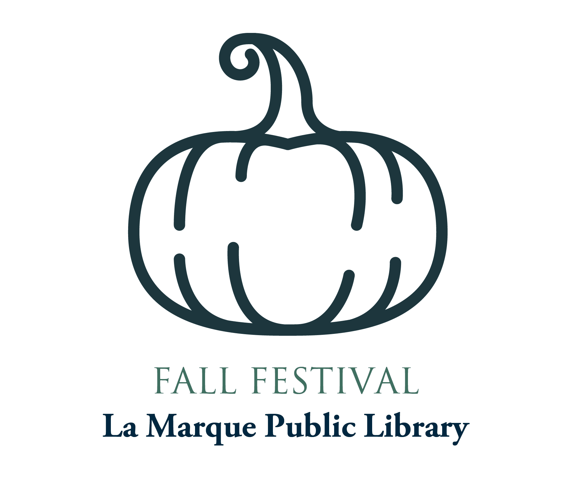 Library Fall Festival 2019 graphic with pumpkin