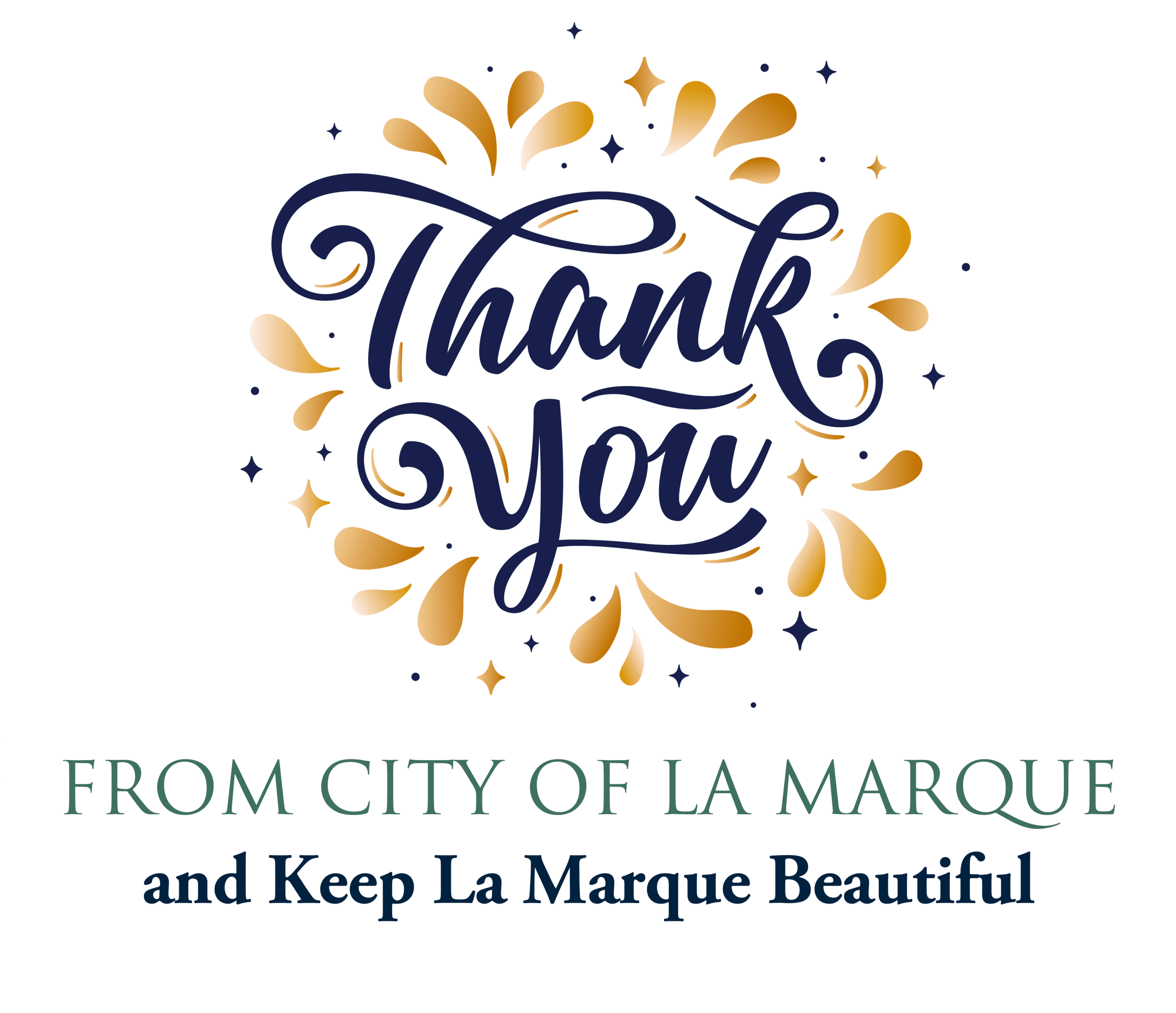Thank You from City and Keep La Marque graphic