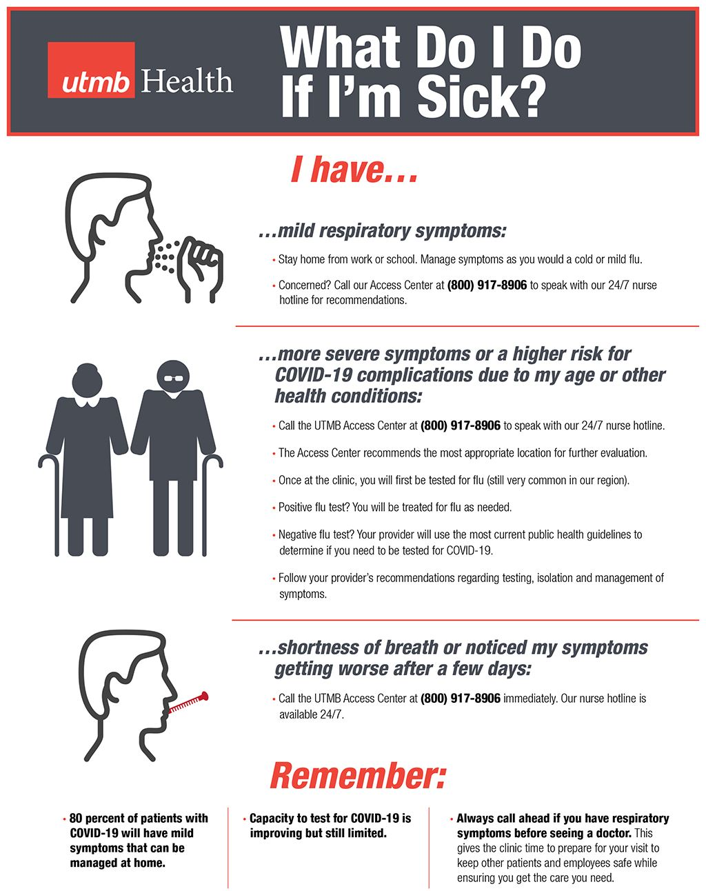 UTMB Flyer_ What Do I Do If I'm Sick?