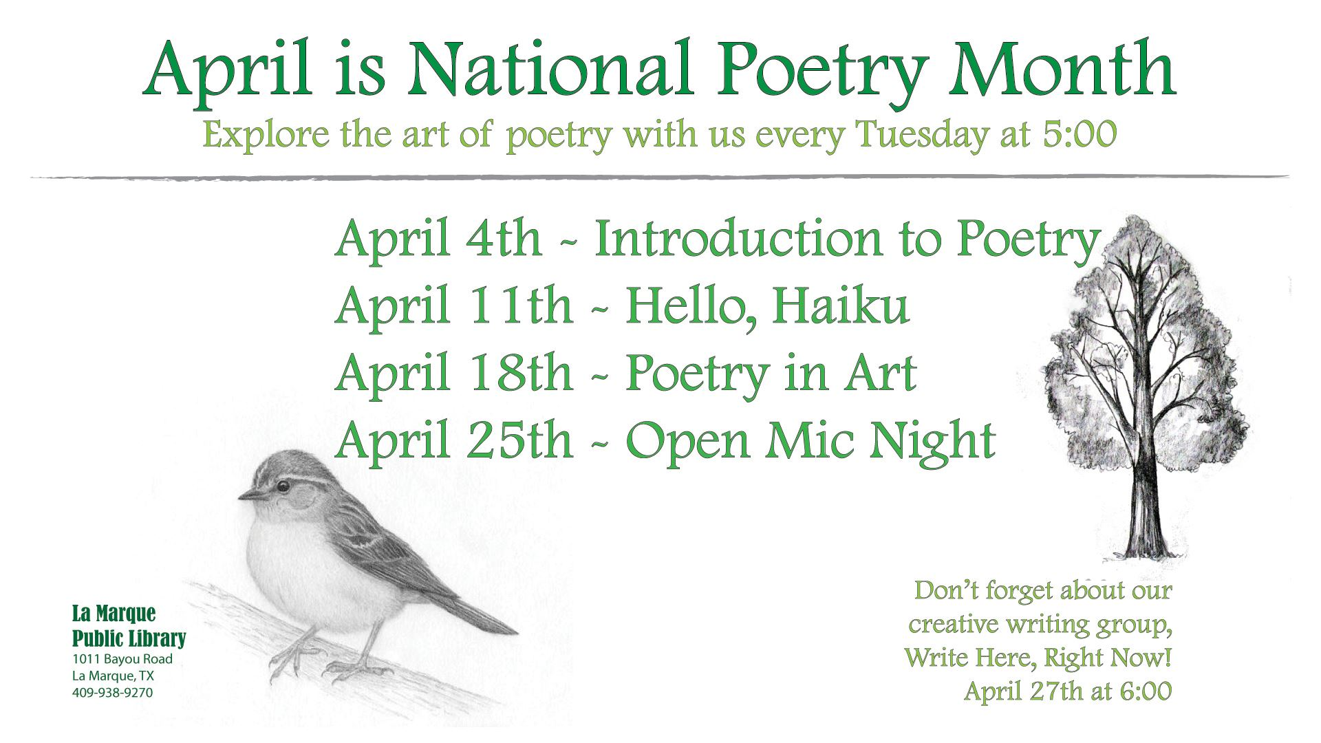 Poetry Month April 2017